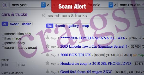 Beware This Craigslist Auto Scam